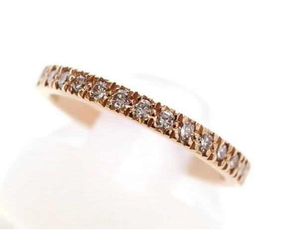 TIFFANY&Co.(ティファニー) ノヴォリング ピンクゴールド ハーフダイヤモンド