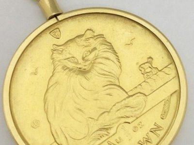 20年以上前に買った猫のコイン <span  class=
