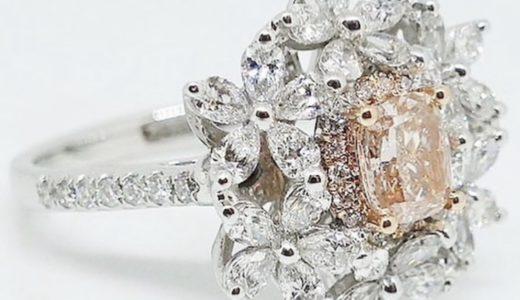 10年ほど前に銀座で買ったピンクダイヤモンドのリング<span  class=