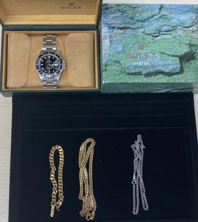 20年以上前に買った時計と金とプラチナリング
