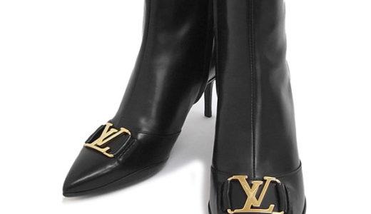 ルイヴィトンのブーツ。表面に薄いスレと裏面は履き跡が残っています。それでも買い取れる?<span  class=