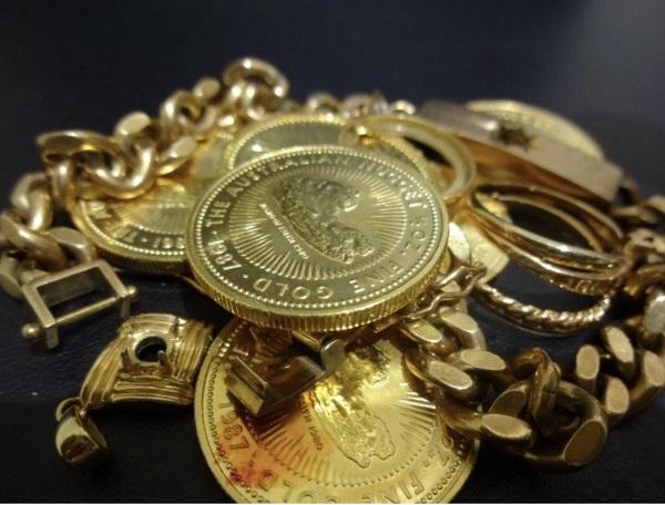 喜平ネックレスや純金のコインなどまとめて買取