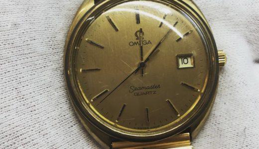 おじいちゃんからもらった動かないオメガの時計<span  class=